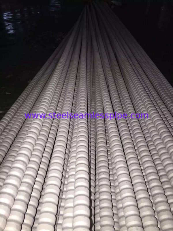 TP304 / TP304L TP316 / TP316L Stainless Steel Corrugated Tubes For Heat Exchangers PA Fin Tube 19X2X6000MM