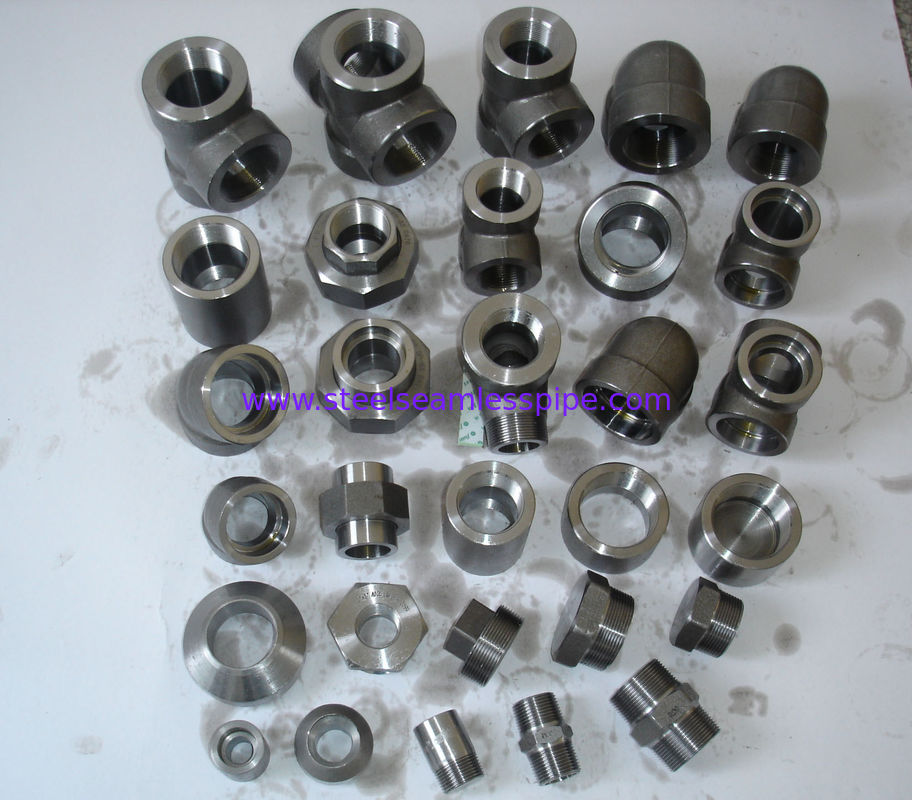 Stainlesss Steel Forged Steel Fittings B16.22 flangeolet , weldolet , reduce tee , elbow , cap , tee
