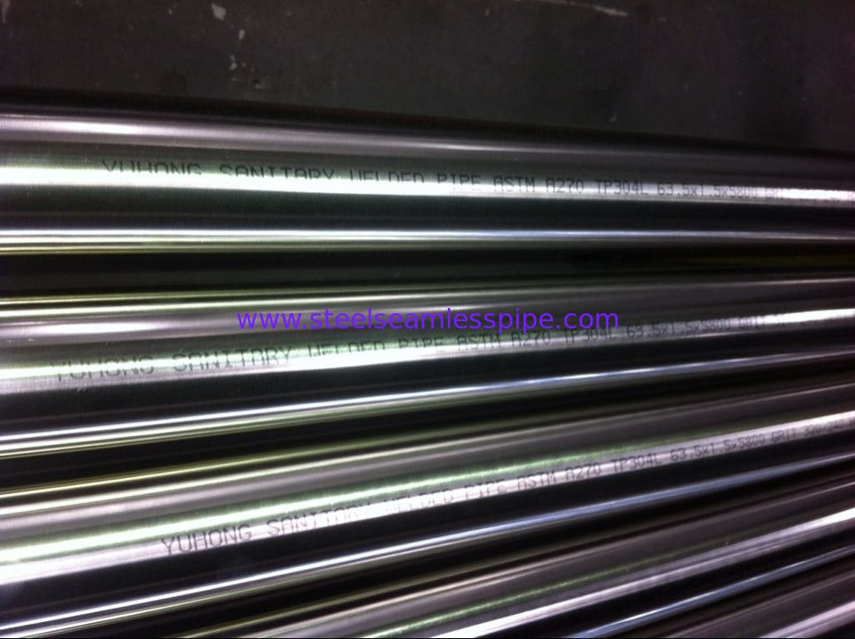 Sanitary Seamless Welded Tube 180/240/320/400/600Grit Polished Inside Outside TP304 TP316L