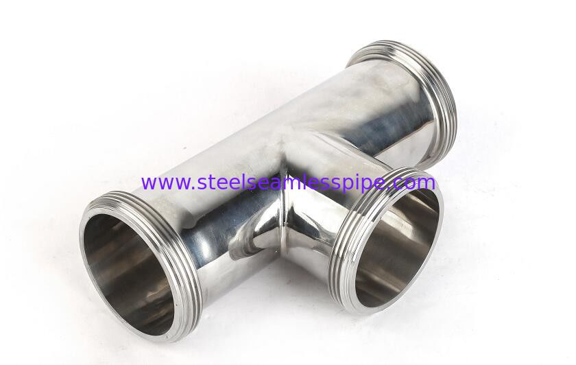 Valve/ Fittings/Pump/Fluid Equipment-DIN SMS 3A Sanitary Stainless Steel Food Grade Mirror Clamp Equal Tee(Sanitario)