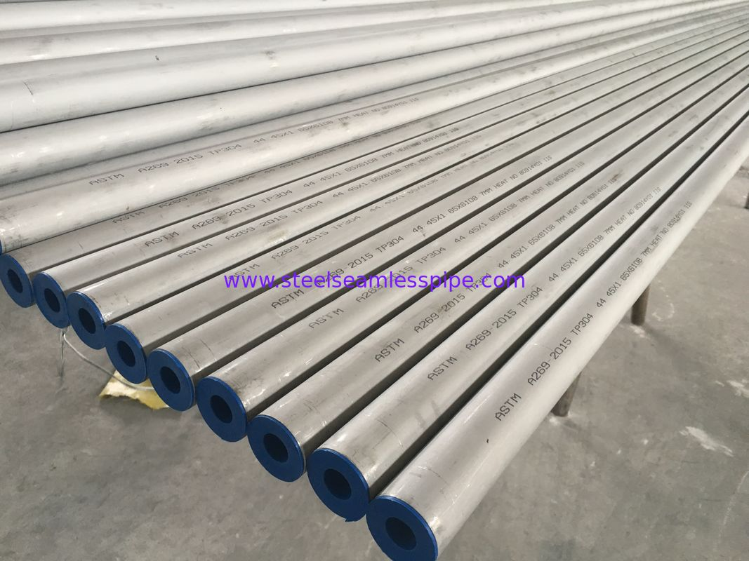 Stainless Steel Seamless Tube , Pickled , Solid , Annealed ASTM A269 TP304 , ASME SA269 TP304L